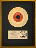 "Music Memorabilia:Awards, The Isley Brothers ""Fight the Power"" Floater RIAA Gold Sales Award (T-Neck, 1975). . ..."