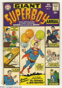 Superboy Annual #1 (DC, 1964) Condition: VG+. Artists include Curt Swan and John Sikela. Overstreet 2004 VG 4.0 value =...