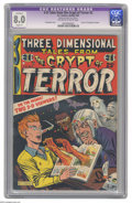 Golden Age (1938-1955):Horror, Three Dimensional Tales from the Crypt of Terror #2 (EC, 1954) CGCApparent VF 8.0 Slight (P) Off-white to white pages. Jack...