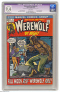 Bronze Age (1970-1979):Horror, Werewolf by Night #1 (Marvel, 1972) CGC Apparent NM 9.4 Slight (A)White pages. Story continued from Marvel Spotlight #4...