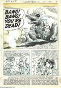 Original Comic Art:Splash Pages, Lee Elias - Unexpected #102, page 1 Original Art (DC, 1967). Thesupremely talented Lee Elias conjures up a rampaging reptil...