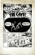 """Original Comic Art:Complete Story, Al Avison - Chamber of Chills #10, Complete 4-page Story """"TheCave!"""" Original Art (Harvey, 1952). Open mouth, insert two sci...(Total: 4 Original Art Item)"""