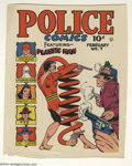 Original Comic Art:Miscellaneous, Gill Fox - Police Comics #7 Color Printer's Proof (Quality, 1942). This stupefying printer's proof from 1942 was the third P...