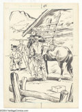 Original Comic Art:Sketches, Fred Harman (attributed) - Red Ryder Illustration Original Art (undated). Red Ryder saddles up for another hard-riding adven...