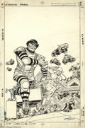 Original Comic Art:Covers, Carmine Infantino and Mike DeCarlo - Flash Cover Original Art(undated). A roller-bladed baddie throws out free skates to th...