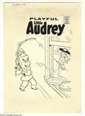 Original Comic Art:Covers, Warren Kremer (attributed) - Playful Little Audrey #98 CoverOriginal Art (Harvey, 1971). Little Audrey has caught Melvin, t...
