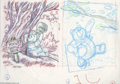 "Original Comic Art:Miscellaneous, Mike Royer - Winnie the Pooh Sketches Original Art (undated).Winnie The Pooh shares his ""Thoughtful Spot"" in the Hundred Ac..."