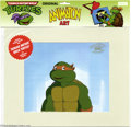 Original Comic Art:Miscellaneous, Teenage Mutant Ninja Turtles - Raphael Animation Cel (MWS Inc.,1991). Cowabunga -- it's a close-up of a Teenage Mutant Ninj...