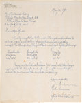 Music Memorabilia:Documents, John Lennon and Yoko Ono Hand-Signed Letter to Gertrude Rullo (1980). . ...
