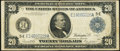 Large Size:Federal Reserve Notes, Fr. 983a $20 1914 Federal Reserve Note Fine-Very Fine.. ...