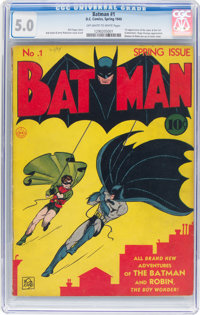 Batman #1 (DC, 1940) CGC VG/FN 5.0 Off-white to white pages