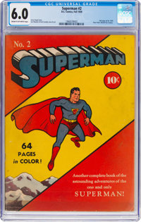 Superman #2 (DC, 1939) CGC FN 6.0 Cream to off-white pages