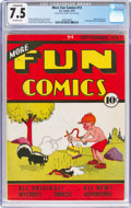 Platinum Age (1897-1937):Miscellaneous, More Fun Comics #13 (DC, 1936) CGC Conserved VF- 7.5 Off-white pages....