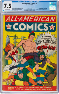 All-American Comics #8 (DC, 1939) CGC VF- 7.5 Off-white pages