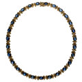 Estate Jewelry:Necklaces, Sapphire, Gold Necklace. ...