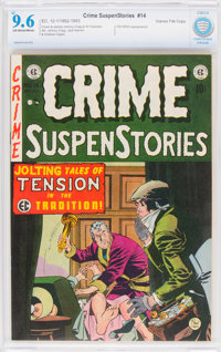 Crime SuspenStories #14 Gaines File Pedigree 12/14 (EC, 1952) CBCS NM+ 9.6 Off-white to white pages