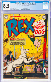 Adventures of Rex the Wonder Dog #3 (DC, 1952) CGC VF+ 8.5 Off-white to white pages