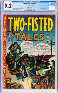 Two-Fisted Tales #25 Gaines File Pedigree 3/10 (EC, 1952) CGC NM- 9.2 Off-white pages