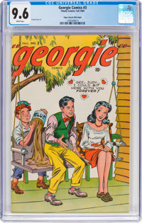 Georgie Comics #3 Mile High Pedigree (Timely, 1945) CGC NM+ 9.6 White pages