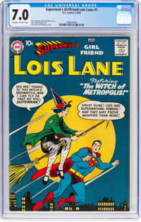 Superman's Girlfriend Lois Lane #1 (DC, 1958) CGC FN/VF 7.0 Off-white to white pages