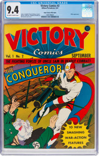 Victory Comics #2 Mile High Pedigree (Hillman Publications, 1941) CGC NM 9.4 Off-white to white pages