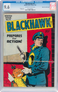 Blackhawk #17 Mile High Pedigree (Quality, 1947) CGC NM+ 9.6 Off-white to white pages