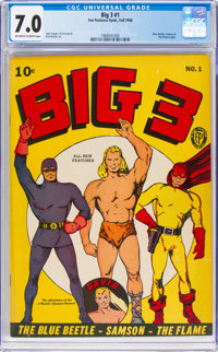 Big 3 #1 (Fox, 1940) CGC FN/VF 7.0 Off-white to white pages
