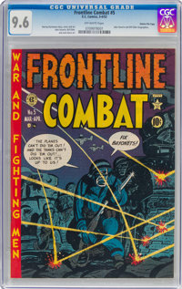 Frontline Combat #5 Gaines File Pedigree 10/10 (EC, 1952) CGC NM+ 9.6 Off-white pages
