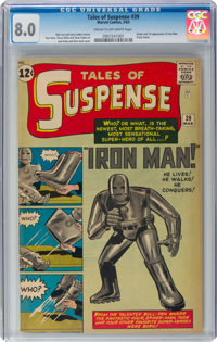 Tales of Suspense #39 (Marvel, 1963) CGC VF 8.0 Cream to off-white pages