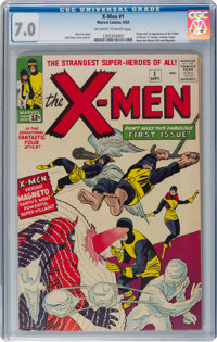 X-Men #1 (Marvel, 1963) CGC FN/VF 7.0 Off-white to white pages