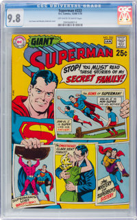 Superman #222 (DC, 1970) CGC NM/MT 9.8 Off-white to white pages