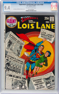 Superman's Girlfriend Lois Lane #104 (DC, 1970) CGC NM 9.4 Off-white to white pages