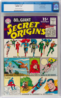 Silver Age (1956-1969):Superhero, 80 Page Giant #8 Secret Origins - Pacific Coast Pedigree (DC, 1965) CGC NM/MT 9.8 Off-white to white pages....