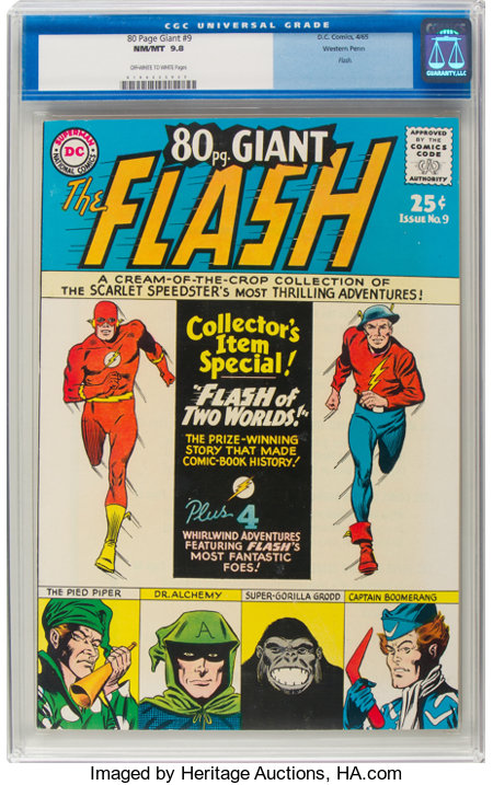 80 Page Giant #9 The Flash - Western Penn Pedigree (DC, 1965) CGC NM/MT 9.8 Off-white to white pages....