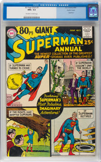 80 Page Giant #1 Superman - Pacific Coast Pedigree (DC, 1964) CGC NM+ 9.6 Off-white to white pages