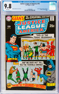 Justice League of America #76 (DC, 1969) CGC NM/MT 9.8 White pages