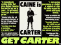 """Movie Posters:Crime, Get Carter (MGM, 1971). Folded, Very Fine. British Quad (30"""" X 40"""") Day-Glo Review Style.. ..."""