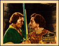 "Movie Posters:Swashbuckler, The Adventures of Robin Hood (Warner Brothers, 1938). VeryFine/Near Mint. Linen Finish Lobby Card (11"" X 14"").. ..."