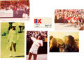 Music Memorabilia:Memorabilia, Elton John Personally Owned RFK Tennis Tournament Name Tag and Pictures (5) (1975). . ...