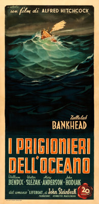 """Lifeboat (20th Century Fox, 1948). Very Fine- on Linen. First Post-War Release Italian Poster (39.5"""" X 81.5"""")..."""