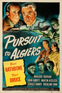 "Pursuit to Algiers (Universal, 1945). Very Fine on Linen. One Sheet (27.25"" X 41"")"