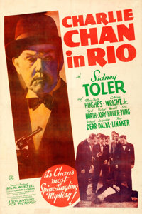 "Charlie Chan in Rio (20th Century Fox, 1941). Fine+ on Linen. One Sheet (27"" X 40.75"")"