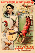 Movie Posters:Miscellaneous, Jules Keller: The Human Enigma (c. 1904). Fine+ on Paper.