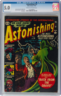 Astonishing #19 (Atlas, 1952) CGC VG/FN 5.0 Cream to off-white pages