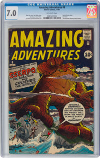 Amazing Adventures #6 (Marvel, 1961) CGC FN/VF 7.0 Off-white pages