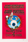 "Music Memorabilia:Posters, Jimi Hendrix Large Limited-Edition Artist-Signed ""Flying Eyeball"" Serigraph.. ..."