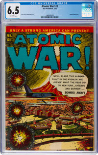 Atomic War! #3 (Ace, 1953) CGC FN+ 6.5 Off-white pages