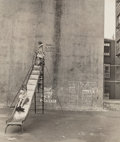 Photographs:Gelatin Silver, Jules Aarons (American, 1921-2008). Untitled (Children on Slide), circa 1955. Gelatin silver. 11-3/4 x 10 inches (29.8 x...