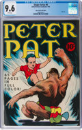 Golden Age (1938-1955):Miscellaneous, Single Series #8 Peter Pat - Mile High Pedigree (United Feature Syndicate, 1939) CGC NM+ 9.6 White pages....