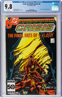 Crisis on Infinite Earths #8 (DC, 1985) CGC NM/MT 9.8 White pages